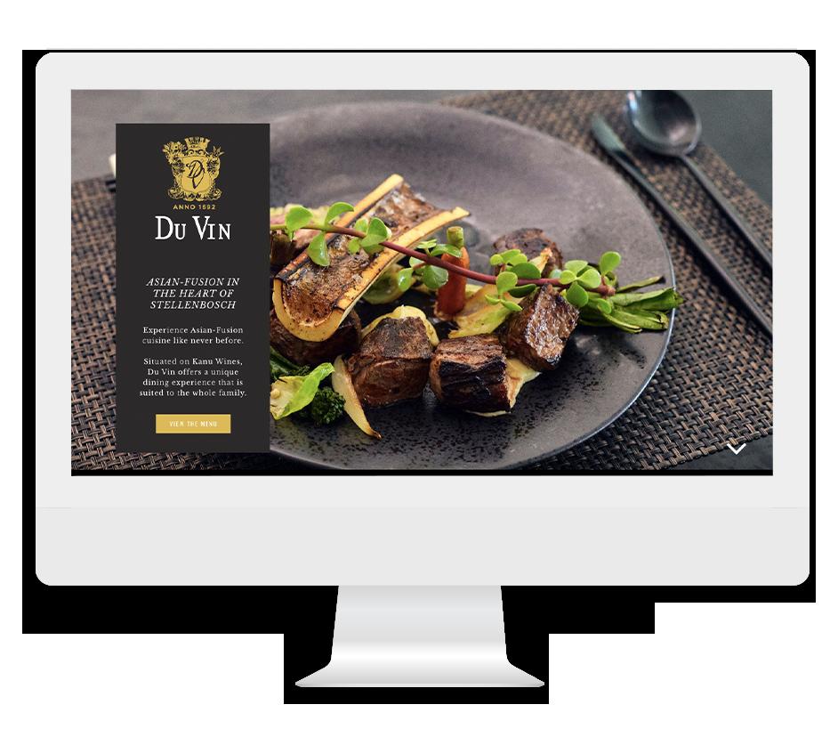 Du Vin Asian Fusion Restaurant Website